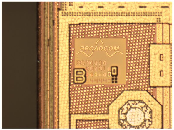 Image 2/3: Here are the die images for the Broadcom BCM4334, fabricated in Taiwan at [http://en.wikipedia.org/wiki/TSMC|TSMC] on a 40 nm CMOS process. Its key features: