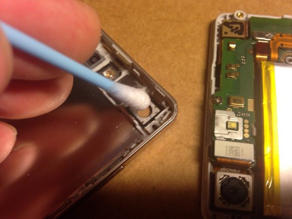 Image 2/2: You can also take time to clean dust off the insides of the phone with a can of compressed air and if necessary, clean the camera lens with isoprophyl alcohol and a cotton swab.