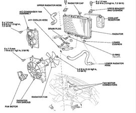 1998 honda accord cooling system diagram wiring diagram rh agarwalexports co 2005 Honda Accord Engine Diagram 1996 Honda Accord Parts Diagram