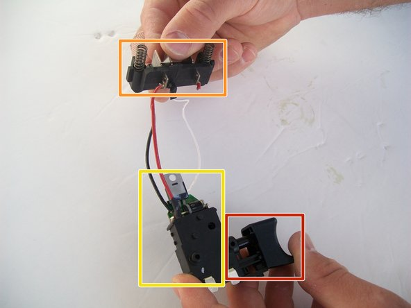 The trigger is indicated by the red box.