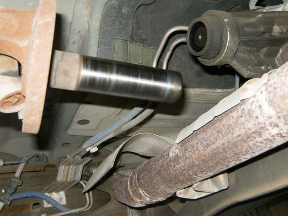 The driveshaft slip yoke will simply slide out.