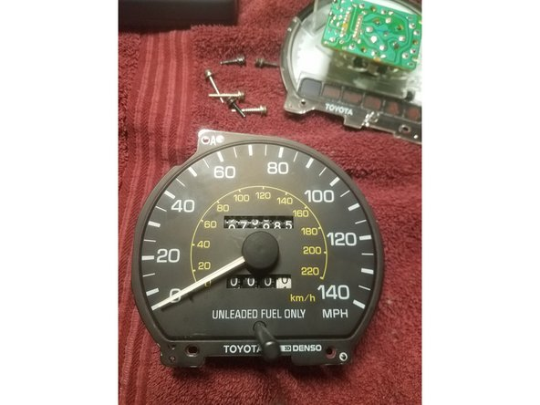 Repairing the instrument cluster on a 1991-1996 toyota camry (1991