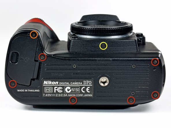 Nikon D70 Bottom Cover Replacement