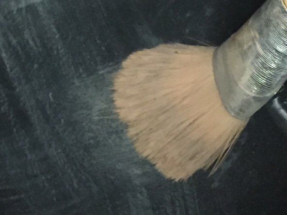 Rotate the brush in the water for approximately 5 minutes.