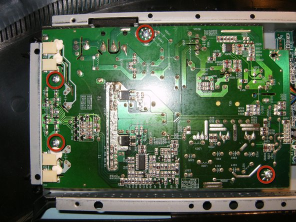 Image 2/3: Gently lift the board straight up, watch the connector on the right hand side.