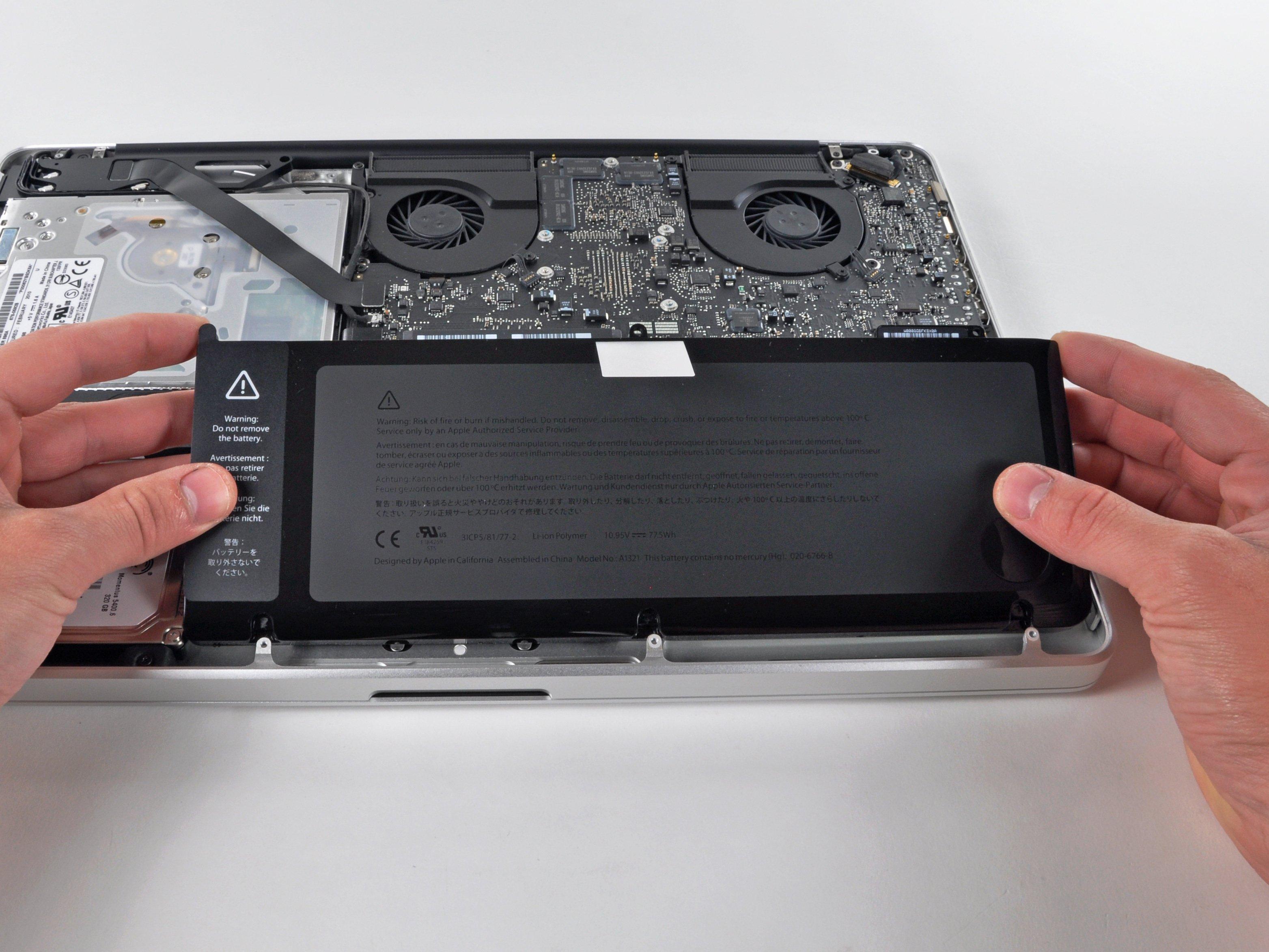 macbook avviso batteria