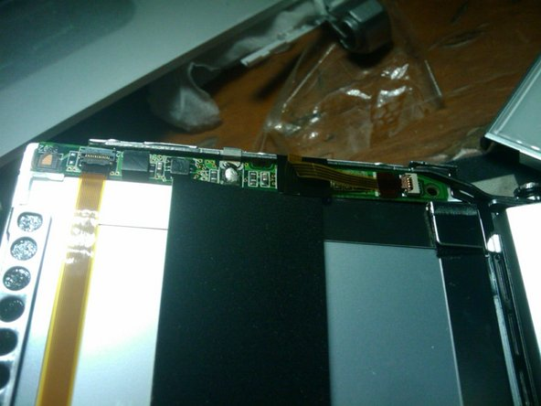 The PCB of the screen.