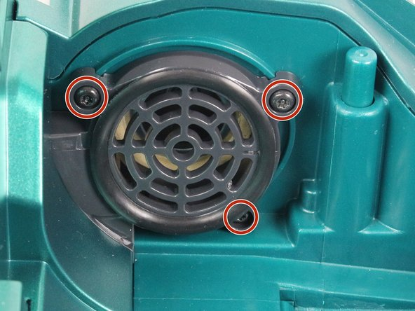 Remove the three 10mm screws by rotating counter clockwise with a T15 Torx screwdriver.