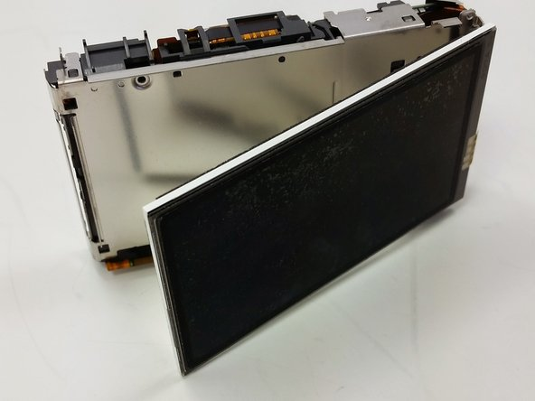 Flip screen away from body of device.