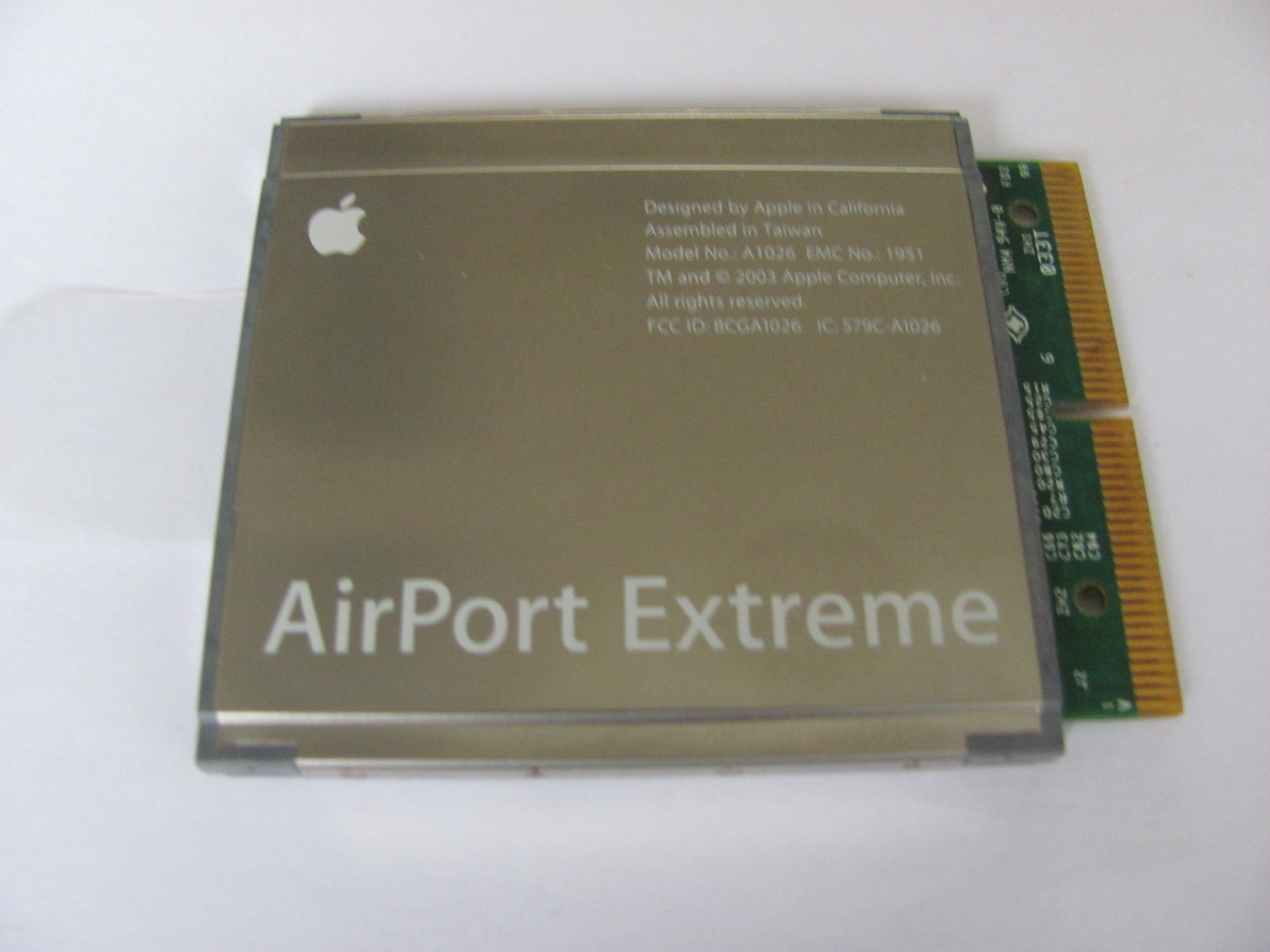 apple airport extreme model a1034 internet card