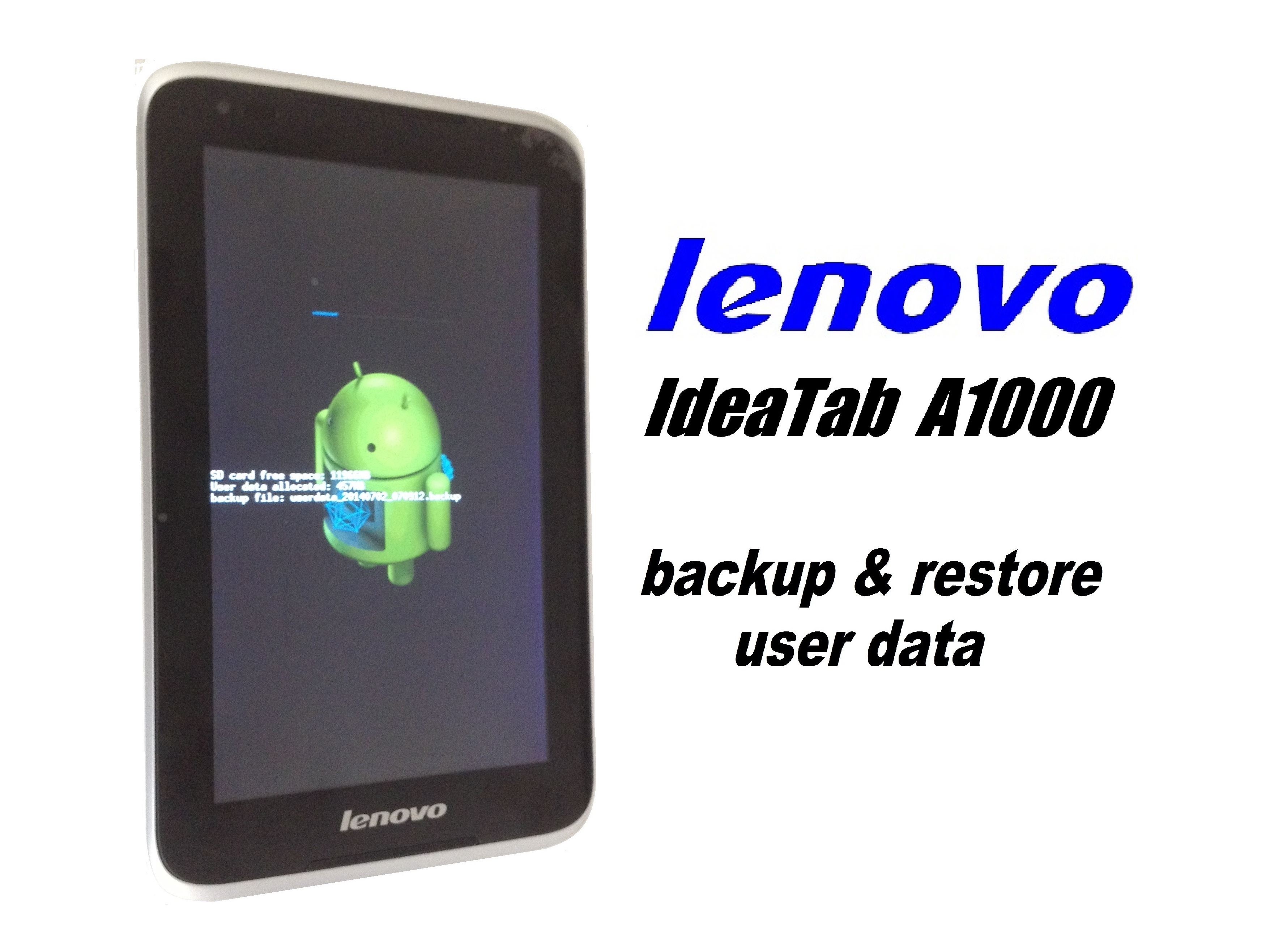 Lenovo Ideatab A1000 Backup Restore