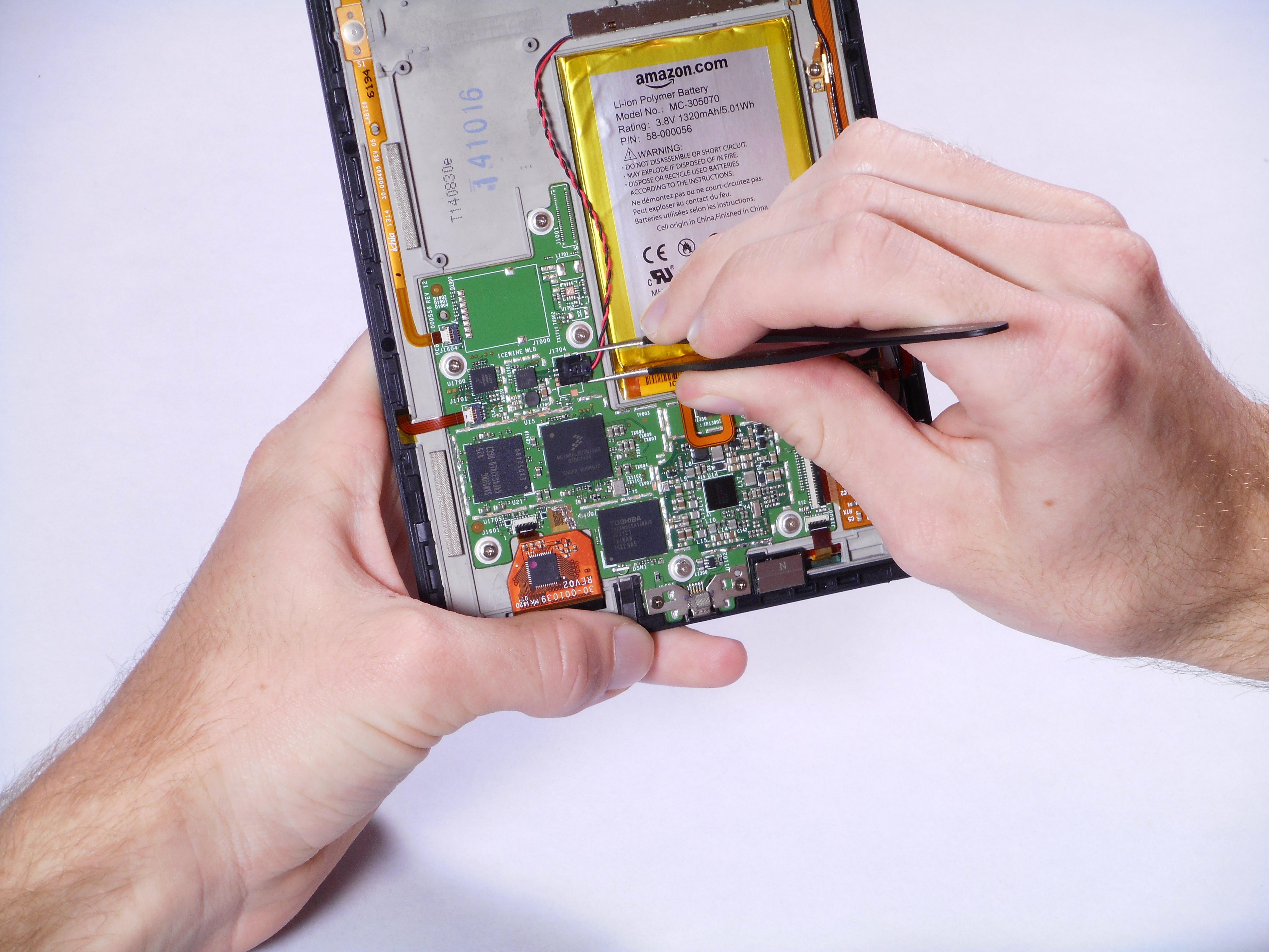 Kindle Voyage Vibrator Replacement Ifixit Repair Guide Short Circuit No Disassemble