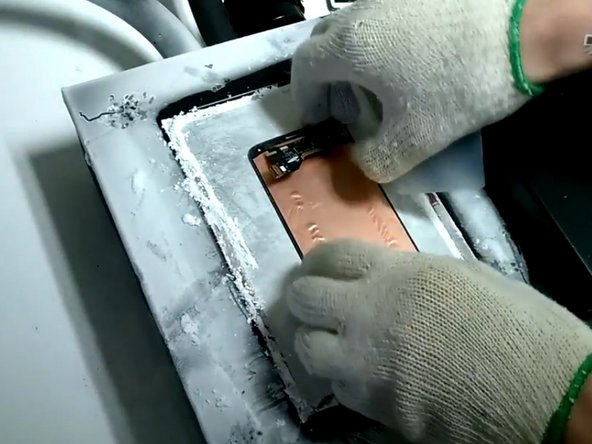 How to  separate front glass in Samsung Galaxy S5 using freezing machine
