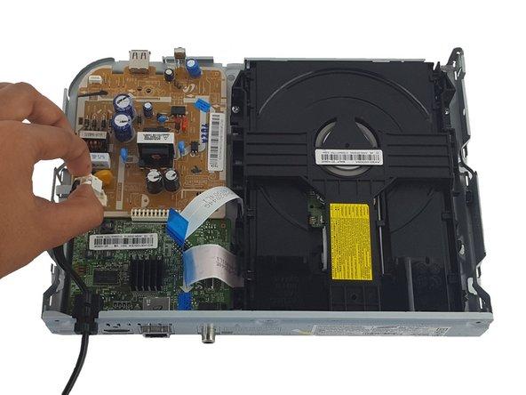Image 1/2: Remove power cord.