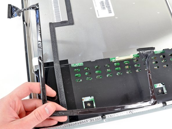 Remove the inverter cable from the LCD.