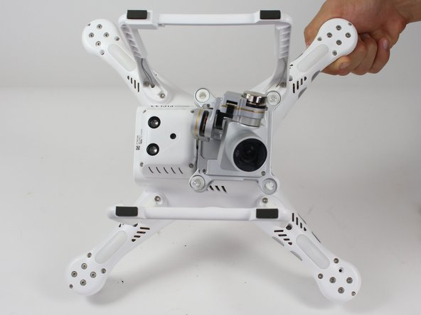 Turn the Phantom 3 Advanced upside down.