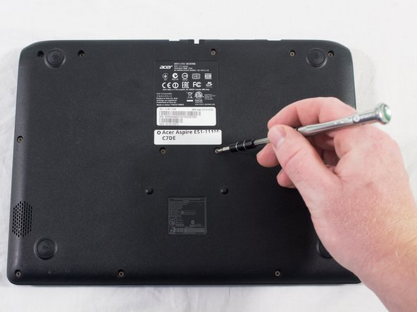 Unscrew the 13 6.2mm screws located on the bottom of the laptop using the JIS #0 screwdriver.