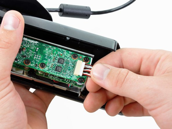 Image 1/1: All four microphones connect to the motherboard with a single cable connector.