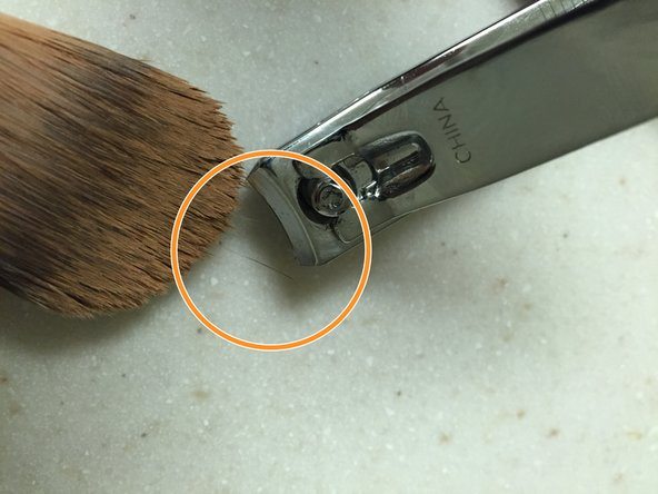 There may be a few fraying bristles left. These are harmless and will cling to the brush shape when dipped in paint.