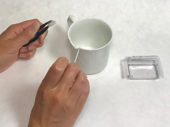Use a tweezer to attach smaller fragments.