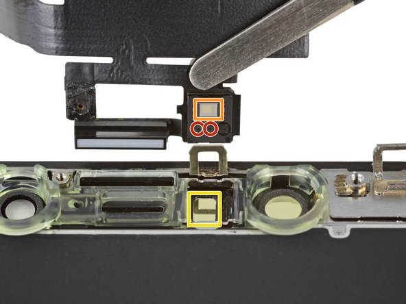 During reassembly, check the position of the black plastic module containing these components: