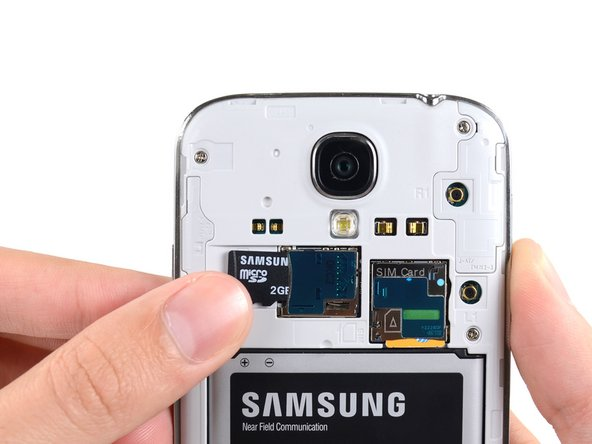 Samsung Galaxy S4 MicroSD Card Replacement