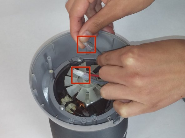 Image 1/1: Gently pull out the two plastic covers at the end of the wires.
