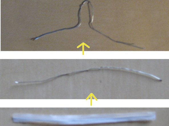 Take the twist tie (about 3cm long, minimum 1.5cm) and remove the plastic or paper enclosing.