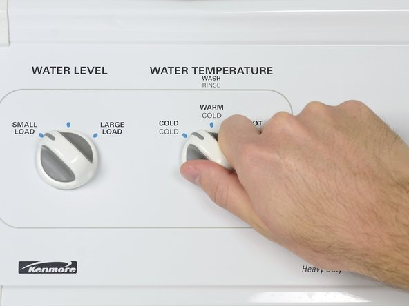 Set the water temperature on the washing machine to cold/cold.