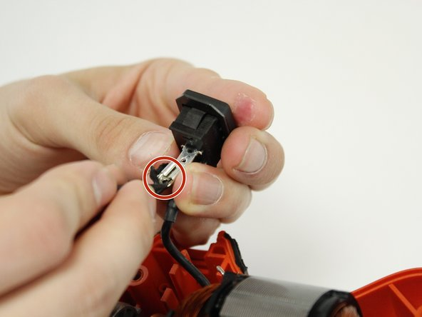 Image 1/1: When attaching the new power cord you will need to make sure to cover this lock system with electrical tape.