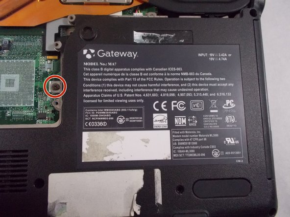 Remove the following screws holding the DVD/CD drive in place: