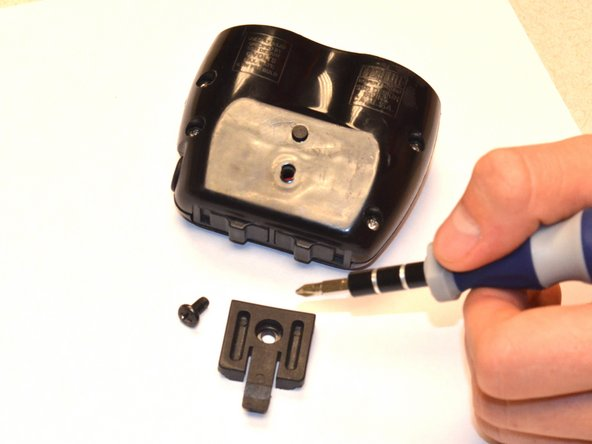 Using a Phillips head screwdriver, remove screw securing mount to device.