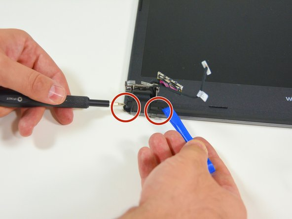 Image 2/3: Orten Sie danach die Schraubenabdeckungen am anderen Scharniergelenk.