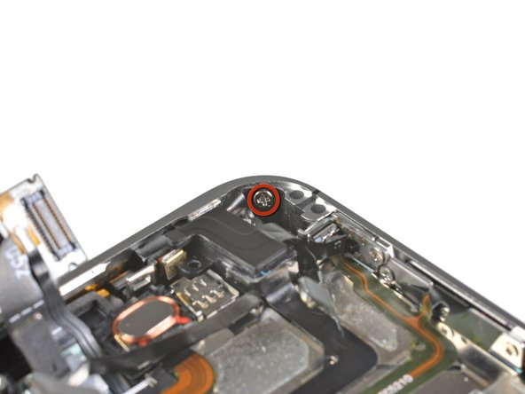 Image 1/1: Remove the 1.6 mm Phillips screw near the headphone jack.