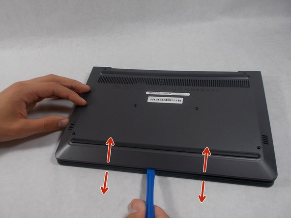 Once all screws are removed you may pry the case off using your fingers, or with a plastic opening tool.