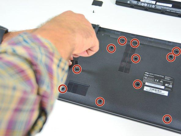 Image 1/3: Lösen Sie danach diese Schrauben und legen Sie diese auf Ihrem Arbeitsplatz ab.