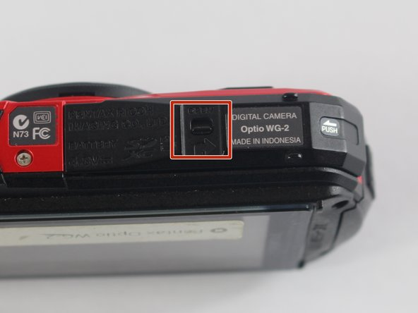 Make sure the camera is turned off before removing or inserting the SD Memory Card.