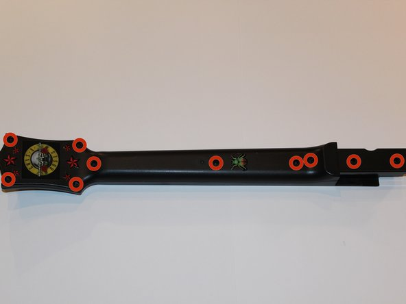 Remove the 10 screws (each are 1 cm long) on the back of the neck using a T-10 Torx security screwdriver.