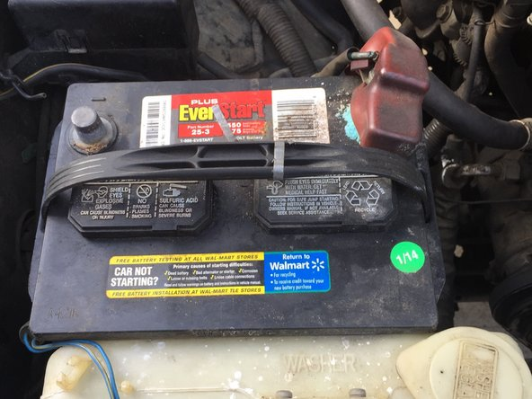 Disconnect the negative battery terminal from the battery in order to be sure that no electrical current is running through the truck.