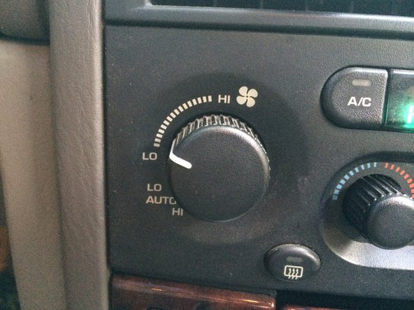 Turn on the car and test the AC/Heater