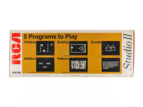 Image 2/3: The five pre-programmed games stored inside the Studio II include: