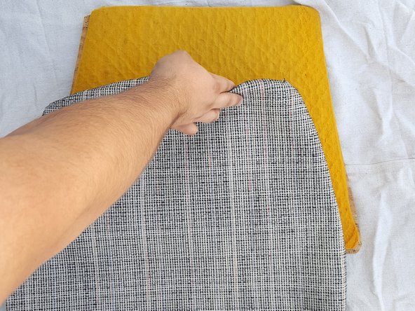 You may use fabric (cut to size) instead of a cushion cover.