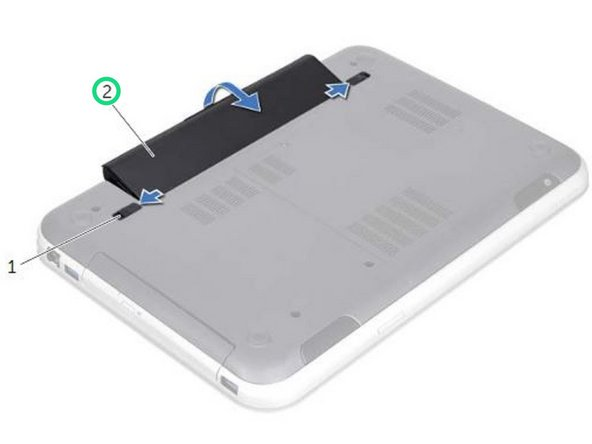 Align the tabs on the battery with the slots on the battery bay and snap the battery until it clicks into place.