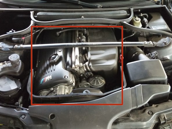 Some engine components may be HOT! Avoid touching the indicated areas.