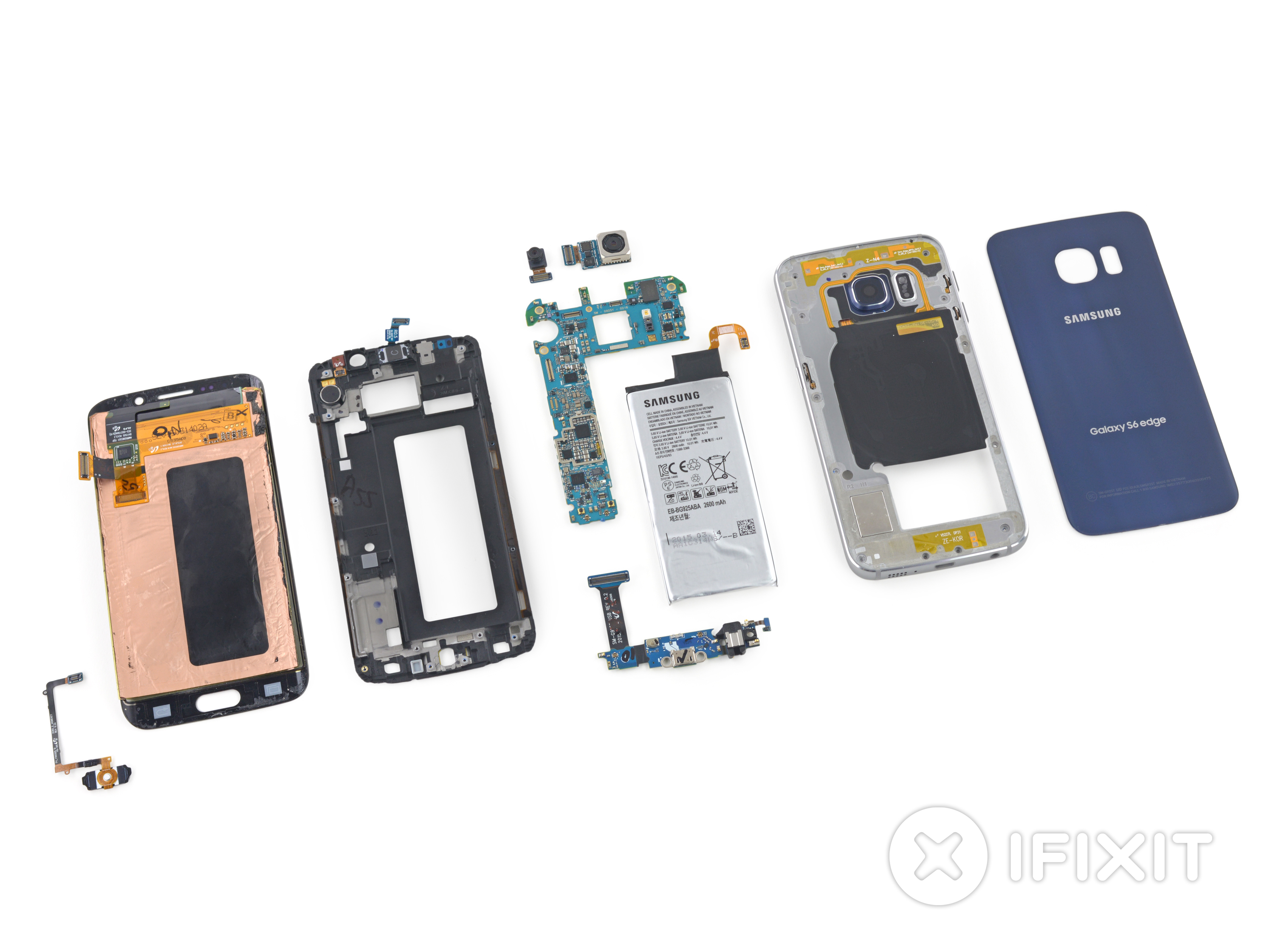 samsung galaxy s6 edge teardown ifixit. Black Bedroom Furniture Sets. Home Design Ideas