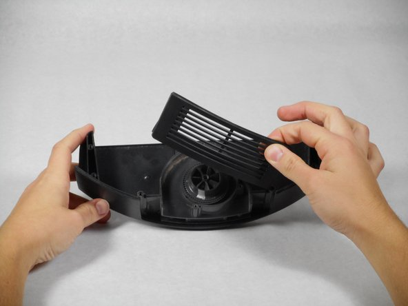 The casing is composed of 2 parts (the large top casing, and a small air filter). If these parts detach, they are very easy to put back together. Do not lose the air filter.