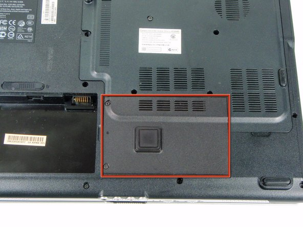 Start by locating the small panel directly to the right of the battery.
