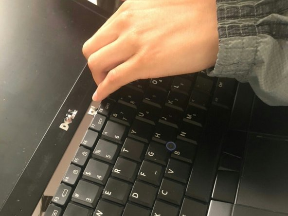 Pull off keyboard forward and then outwards.