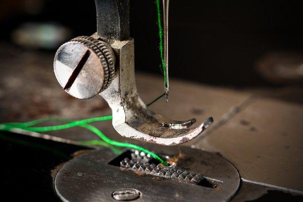 rusty sewing machine foot