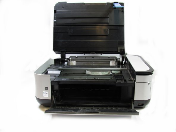 Image 2/2: After removing the lever, close the scanner compartment and the scanner cover.